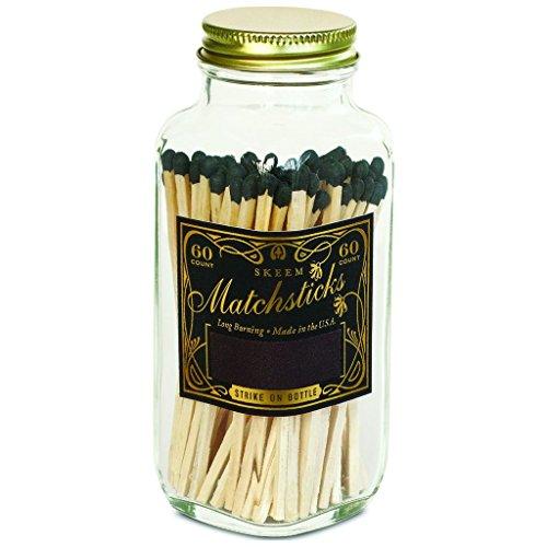 Vintage Matches - Skeem Design Black + Gold Classic Vintage Matches