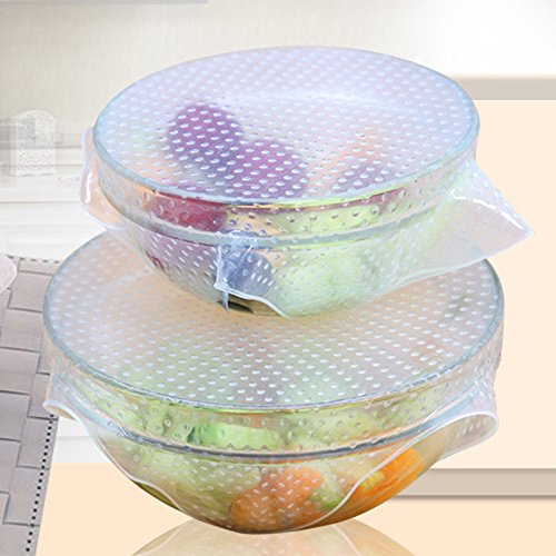 4pcs-kitchen-tools-reusable-silicone-food-wraps-seal-vacuum-cover-lid-stretch