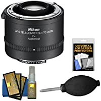 Nikon TC-20E III 2x AF-S Teleconverter with Screen Protectors + Blower + Cleaning Kit for Digital SLR Cameras