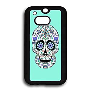 Funky Sugar Skull HTC One M8 Cases, HTC Cases, HTC One Cases (Silicone Rubber)