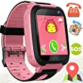 Kids Phone Smart Watch for Boys Girls - Kidaily GPS Tracker Outdoor Watch with SOS Anti-lost Cell Phone SIM Card Camera Game, Touch Digital Wristwatch 3-14 Years Kids Smartwatch