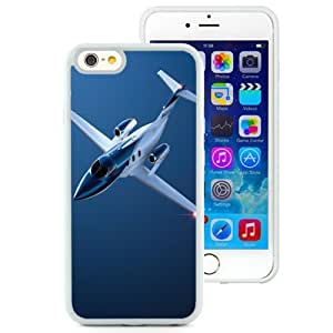 NEW Unique Custom Designed iPhone 6 4.7 Inch TPU Phone Case With Private Jet Plane Blue_White Phone Case
