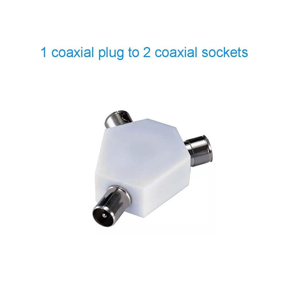 Koaxial TV Antennen Y Splitter, 3-Wege-Y-Adapter 2: Amazon.de ...