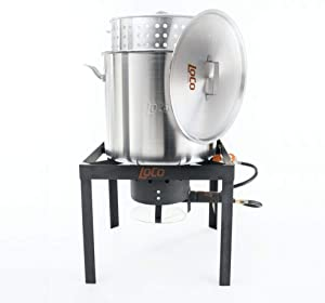 Loco Cookers LCTSK80 Stainless Steel 80 Quart Outdoor Cooking and Boiling Kit for Crawfish and Seafood Boils