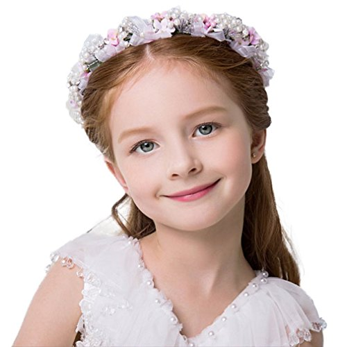 ower Girls Crown Beading Hair Accessories Ceremony Party Wedding Photo Props (Wedding Ceremony Photos)