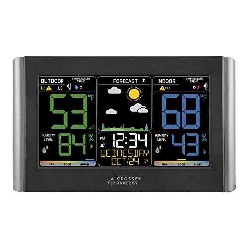 Wireless Atomic Weather Station - La Crosse Technology C85845 Color Wireless Forecast Station