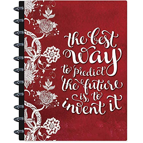 Ring 3 Binder 2 Removable (Tools4Wisdom Customizable 2019 Disc Planner - 8.5 x 11 Discbound Hardcover with Monthly Tabs - Dated December 2018 to Dec 2019 Calendar Year - Removable Daily Weekly Monthly Pages w/Planner Stickers)