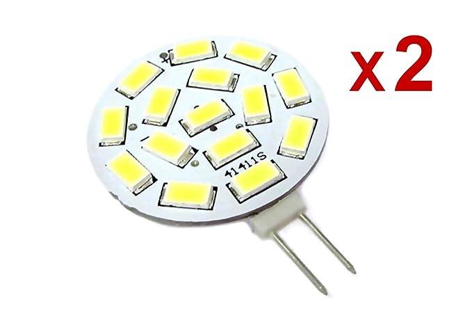 2 piezas bombillas LED G4 Bispina DC AC 12 V 24 V 3,5 W