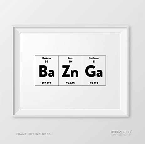 andaz press periodic table of elements wall art decor 85 x 11 inch - 8 5 X 11 Periodic Table Of Elements