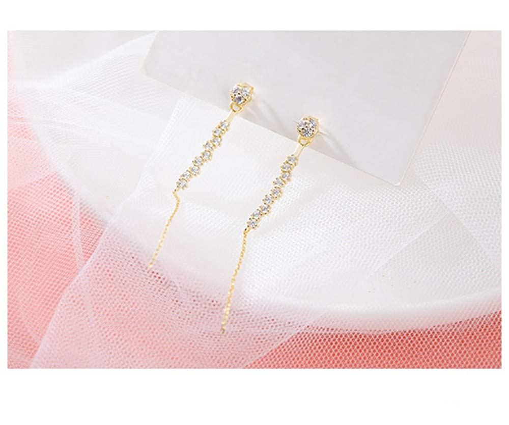LSDAMW Earrings For Women Drop Dangle Girls Simple Personality Girl Heart S925 Silver Needle Stud Earrings