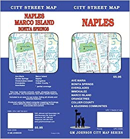 Naples Marco Island Fl Street Map Gm Johnson 9781897152225