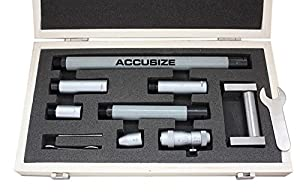 Accusize Tools - 2-20'' Inside Micrometers Set 0.001'' Increments, 3011-4051 by Accusize Co., Ltd.