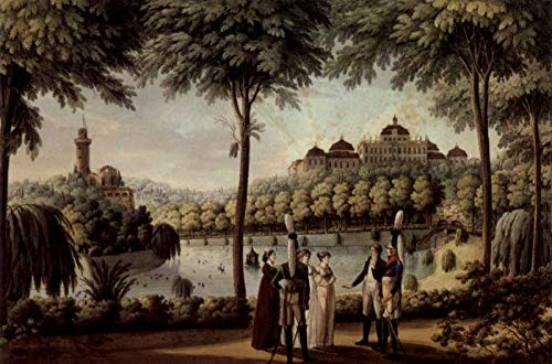 Johanns Garden - Home Comforts Peel-n-Stick Poster of Spahr, Johann - Ludwigsburg (Württemb.), Castle with Garden from South Vivid Imagery Poster 24 x 16 Adhesive Sticker Poster Print