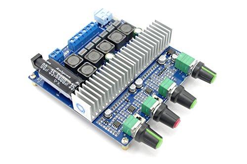 (SMAKN® TPA3116 2.1CH 2*50W+100W Amp Kit Amplifier Assembled Board)