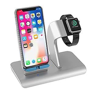 UPWADE Smart Watch Stand,Smart Phone Carga Dock Soporte Cargador Inalámbrico con Soporte del Reloj Apple Estación de Carga del para Smart Watch Smart ...