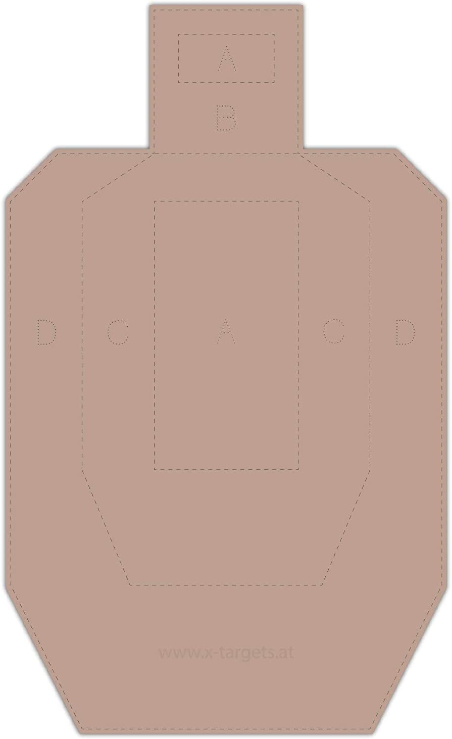 Metric Cardboard X-Targets USPSA Competition Disc