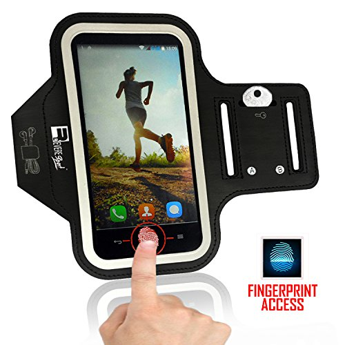 iPhone 7/8 PLUS Running Armband with Fingerprint ID Access. Sports Phone Arm Case Holder for Small 9'' - Large 20'' Arms. Designed for Runners, Gym Workouts & Extreme Exercise by Revere Sport (Image #2)