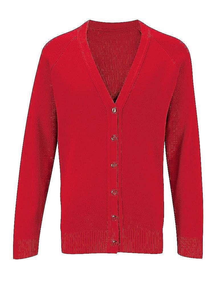 Boys School Knitted Cardigan Uniform Age 3 4 5 6 7 8 9 10 11 12 13 14 15 16 + Adult Sizes