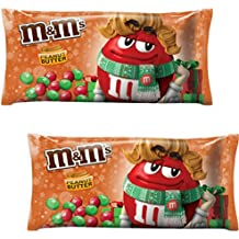 M&M's Peanut Butter Chocolate Candy for the Holidays, 11.4 Ounce Bag (Pack of 2)