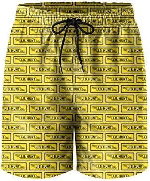 LMQI Mens Microfiber Printed Beach Shorts Adjustable Board Sporty Short