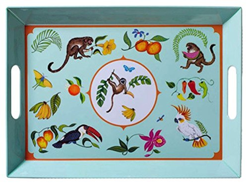 Lynn Chase Designs Monkey Business Melamine Serving Tray