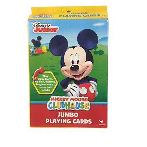 Mouse Mickey Cards Playing (Disney Junior Mickey Mouse Clubhouse Jumbo Playing Cards)