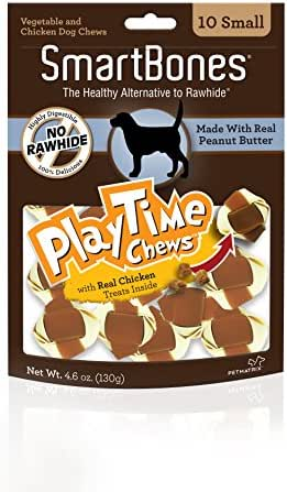 Dog Treats: SmartBones PlayTime Chews Peanut Butter