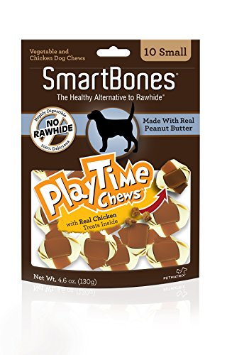 (Smartbone PlayTime Chews for Dogs With Real Chicken Treats Inside)