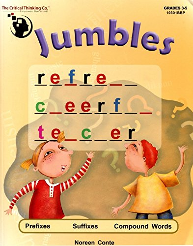 Word Roots Critical Thinking - Jumbles: Prefixes, Suffixes, Compound Words, Grades 3-5