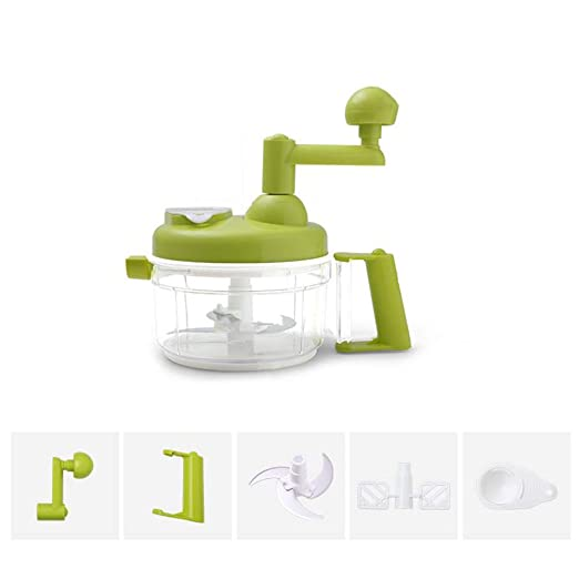 Quick Pull Food Chopper, potente manual de mano,mezclador ...