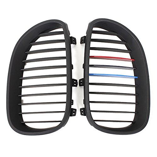 - US Warehouse - Matte Black Kidney Grille Grills For BMW E60 5 Series Sedan 03-09