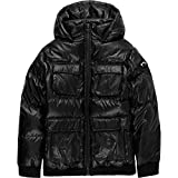 Appaman Boys' Gambit Puffer Coat, Black Diamond, 7