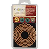 Spellbinders Nestabilities 6-Piece Concentric Die Template, Classic Scalloped Circles, Large