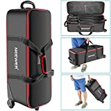 "Neewer Photo Studio Equipment Trolley Carry Bag 30""x11""x11""/77x28x27cm with Straps Padded Compartment Wheel, Handle for Light Stand, Tripod, Strobe Light, Umbrella, Photo Studio and Other Accessories"