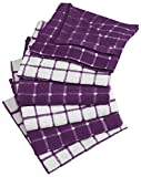 Generic 100% Cotton, Machine Washable, Basic Everyday Kitchen Dish Cloth,purple ?3pack