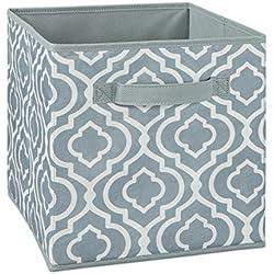 ClosetMaid Cubeicals Fabric Drawer, Iron Gate Gray Print