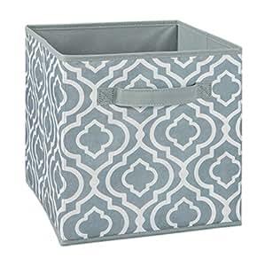 ClosetMaid 1842 Cubeicals Fabric Drawer, Iron Gate Gray Print