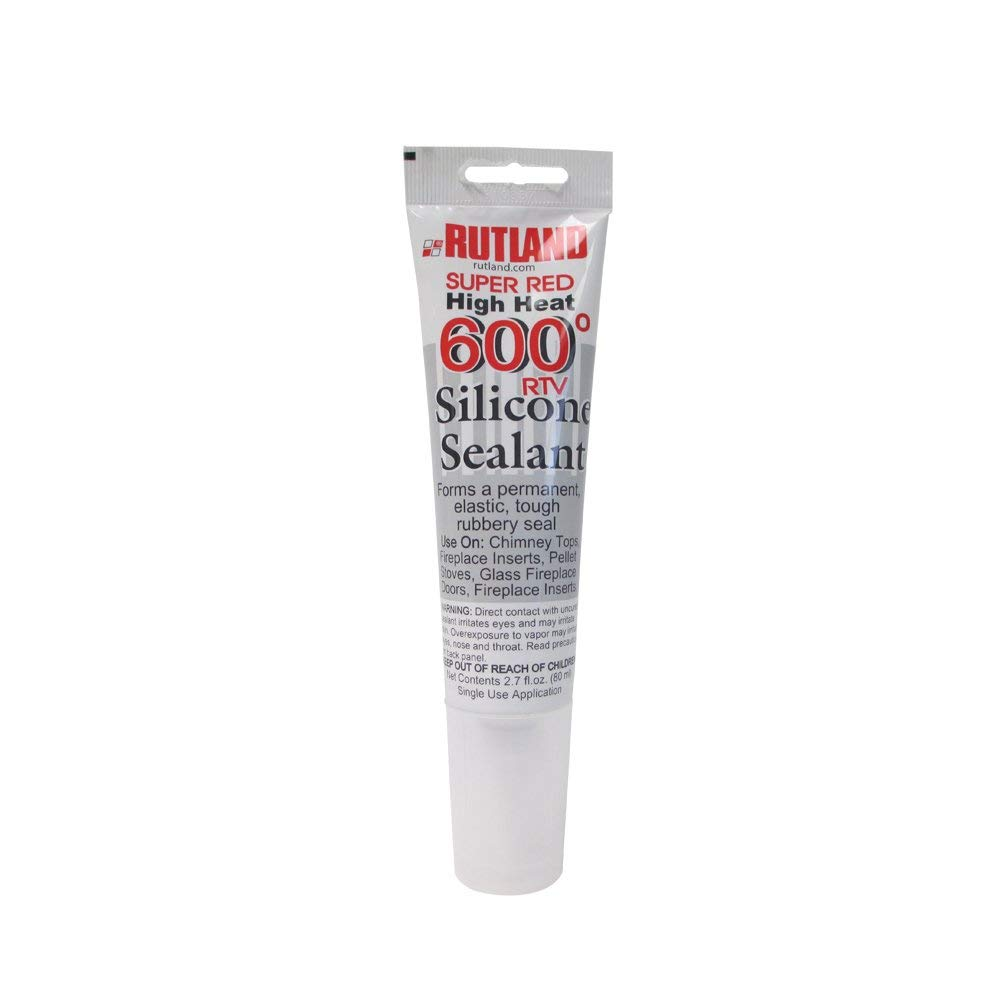 Rutland 600-Degree RTV Silicone Seal Tube, 2.7-Ounce, Super Red by Rutland Products