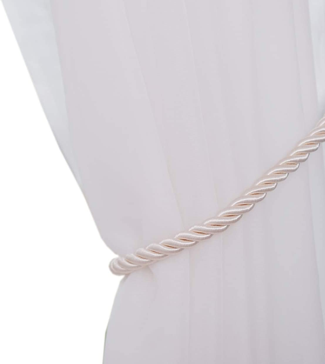 Baihoo Set of 2 Rope Satin Drape Curtain Tiebacks
