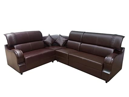 timeless design 3d93c 681a3 Froster oak sofa Wood 6 Seater L-Shaped Sofa Set for Living ...