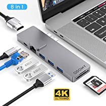 ODOMY USB Type C ハブ 8in1 USB C ハブ macbook pro ハブ ド...