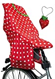 LUNARI Lucky Cape 023030 Children's Bike Seat Rain Protection Quick 2&Nbsp;In 1&Nbsp;Berry Red/White