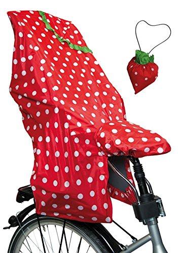 LUNARI Lucky Cape 023030 Children's Bike Seat Rain Protection Quick 2&Nbsp;In 1&Nbsp;Berry Red/White