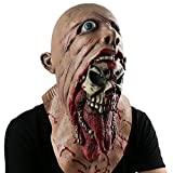 Monstleo Scary Evil Clown Mask,Double Face Latex Rubber Mask by, Halloween Costume Party Mask for Masquerade/Birthday Parties,Carnival Decorations (Blood)