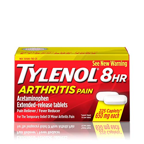 Tylenol Arthritis Medication - Tylenol 8 HR Arthritis Pain Extended Release Caplets, Pain Reliever, 650 Mg, 225 Ct.