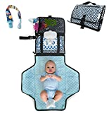 Portable Changing Pad - Travel Diaper Change Pad - Cushioned and Waterproof Pad - Travel Station Mat Kit for Baby Diapering- Infants Baby Changing Portable Mat