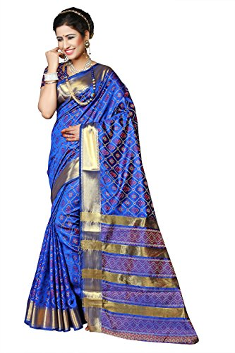 Sarees India Silk (Urban India Silk Saree Free Size Blue)