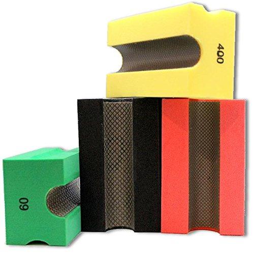 KENT 4 Premium Assorted COARSE Grits V20 Profile Diamond Hand Polishing Pads