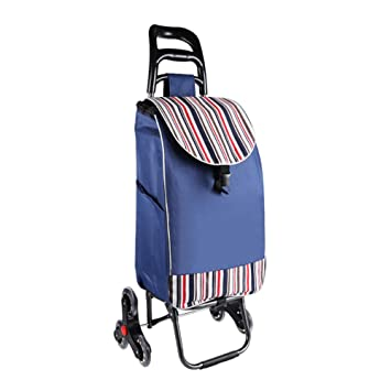 57ee045f5421 Practical Folding Shopping cart Dolly Stairs Climbing Stroller Bag 6 ...