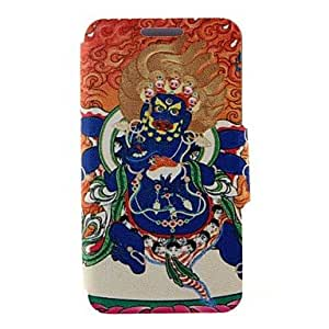 QJM 20150511 Kinston Religious Pattern One Pattern PU Leather Full Body Case with Stand for Samsung Galaxy Note 4